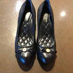 Cole Haan wedge heel pump. Size 6 black grand os